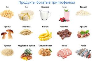 продукты с высоким содержанием триптофана